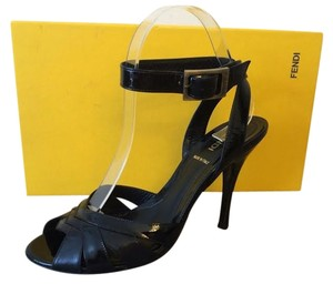 Fendi Strappy Open Toe Black Pumps