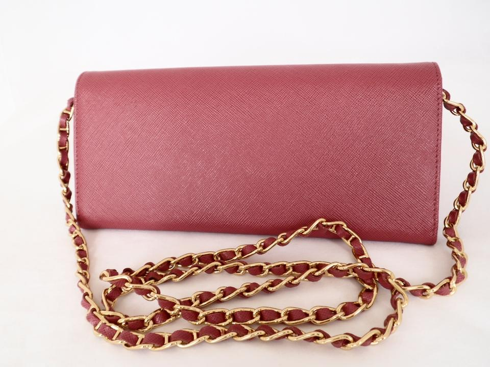 96a07be553d1 Prada Box Metal Wallet On Chain New In Woc Clutch Peonia Pink Saffiano  Leather Cross Body Bag - Tradesy