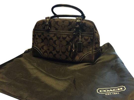 Preload https://item4.tradesy.com/images/coach-brown-leather-and-cloth-satchel-3254338-0-0.jpg?width=440&height=440