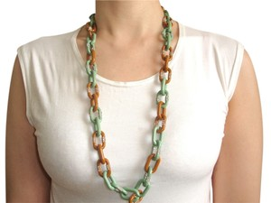 J.Crew J.CREW green brown long necklace and bangle set