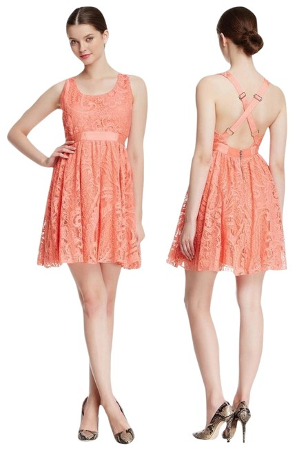 Preload https://item5.tradesy.com/images/alice-olivia-pink-odette-cross-back-lace-above-knee-short-casual-dress-size-12-l-3254479-0-0.jpg?width=400&height=650