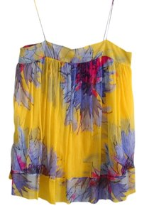 Diane von Furstenberg Chiffon Top yellow multi