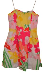 Lilly Pulitzer short dress Blossom Dress in Lavish Lillies Pockets Ruffle on Tradesy