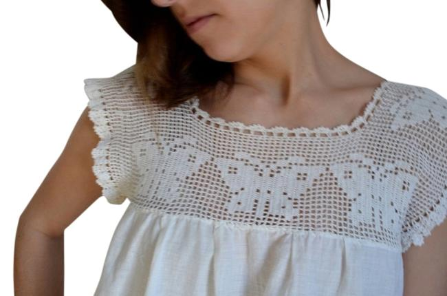 Preload https://item4.tradesy.com/images/white-set-of-2-sweet-vintage-ivory-cotton-with-butterfly-crochet-needlepoint-yoke-mini-short-casual--3254848-0-0.jpg?width=400&height=650