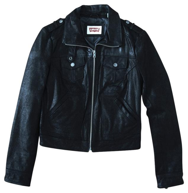 Levi's Leather Trucker Zipper Leather Jacket