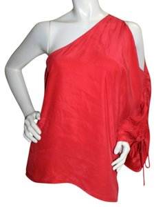 Karina Grimaldi One Red Silk Top
