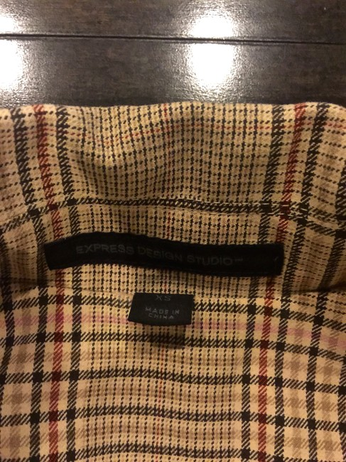 Express Plaid Trench Statement Trench Coat