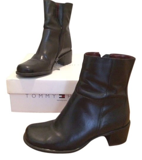 Tommy Hilfiger Leather Black Boots