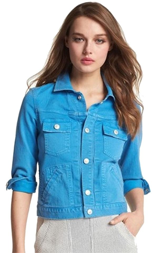 101248ff7e977 Marc Jacobs By Lily Jean bright blue Womens Jean Jacket Image 0 ...