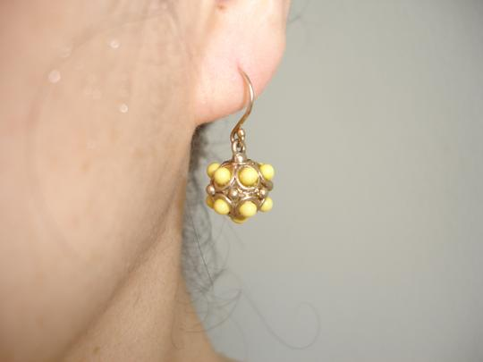J.Crew J.CREW yellow bauble bracelet and drop earrings set