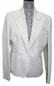 Ralph Lauren Lauren By Single Breasted Linen Cotton Blazer