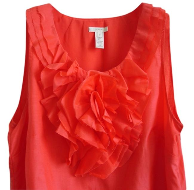 Preload https://item4.tradesy.com/images/jcrew-bright-red-decorative-front-flower-ruffle-blouse-size-10-m-3258433-0-0.jpg?width=400&height=650