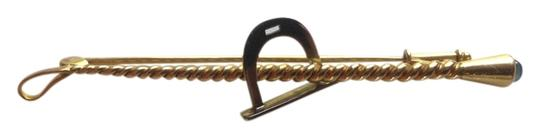 Other Vintage Equestrian Riding/horse racing whip with horseshoe- - Triple Crown mark, Sweden 18k Circa 1963