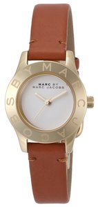 Marc by Marc Jacobs Marc by Marc Jacobs Watch, Women's Mini Blade Tan Leather Strap 26mm MBM1219