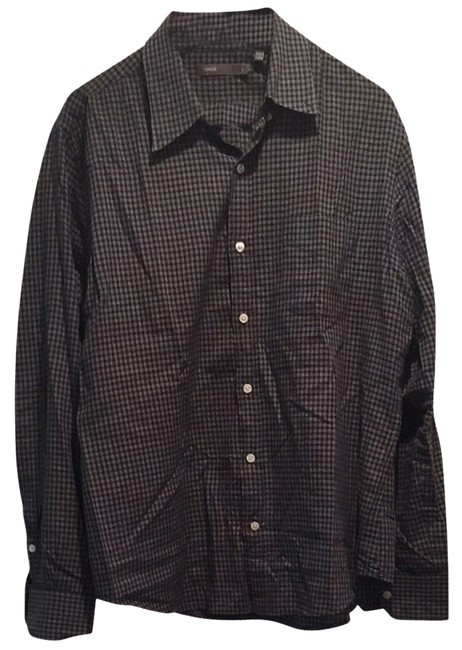 Vince Button Down Shirt Navy