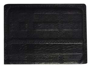 Burberry Burberry Check Embossed Leather Card Case