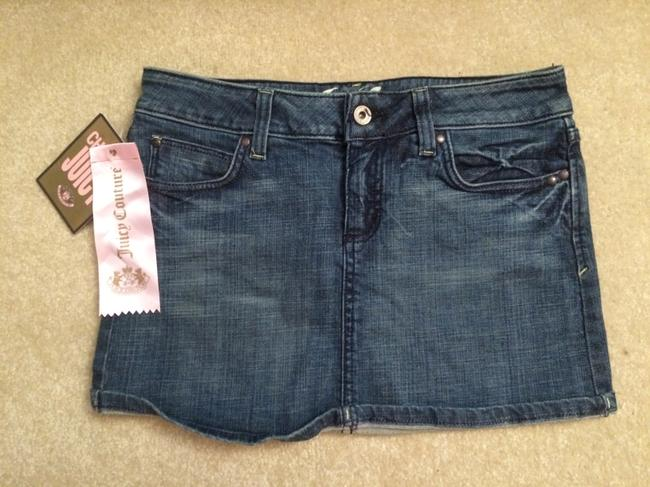 Juicy Couture Mini Mini Skirt Dark Blue Denim