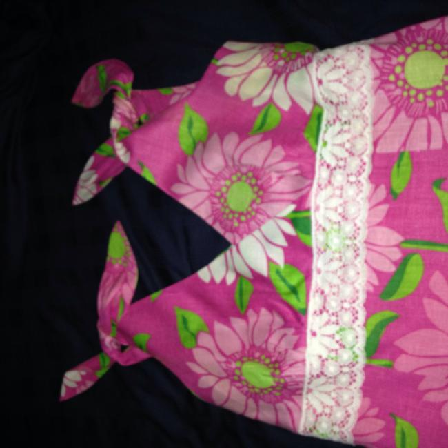 Lilly Pulitzer short dress Pink Floral Linen Sundress on Tradesy Image 1