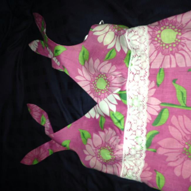 Lilly Pulitzer short dress Pink Floral Linen Sundress on Tradesy