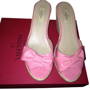 Valentino Sandals Pink Wedges