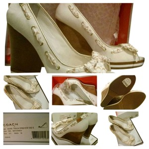 Coach off white Wedges