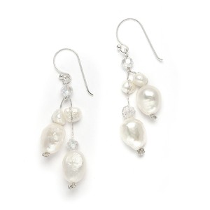 Mariell Pearl Genuine Freshwater Crystals Beach 3685e Earrings