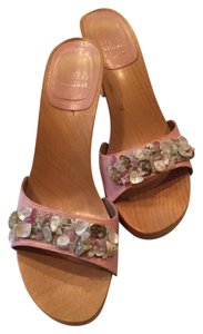 Stuart Weitzman Pink Leather with shells Platforms