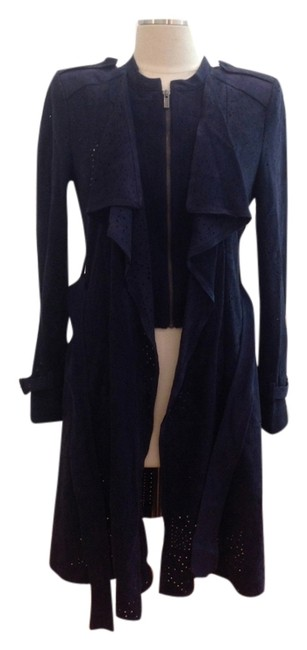 Item - Navy Blue Ried Faux Suede Jacket Size 8 (M)