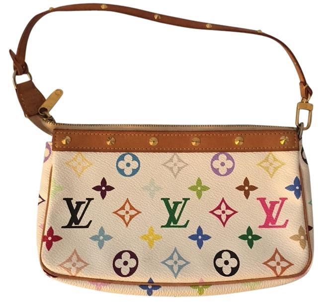 Item - Pochette Murakami Multi Color Canvas Shoulder Bag