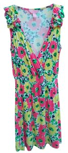 Lilly Pulitzer short dress Pink & Yellow on Tradesy