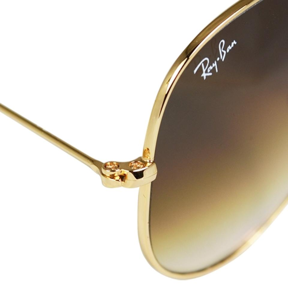 Rb3025 Aviator Sunglasses Gold Frame Crystal Gradient Bl : Ray Ban Rb3025 Gold Frame Brown Lens