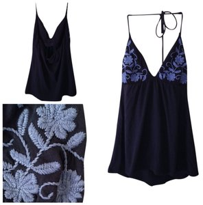 Victoria's Secret Navy Blue Halter Top