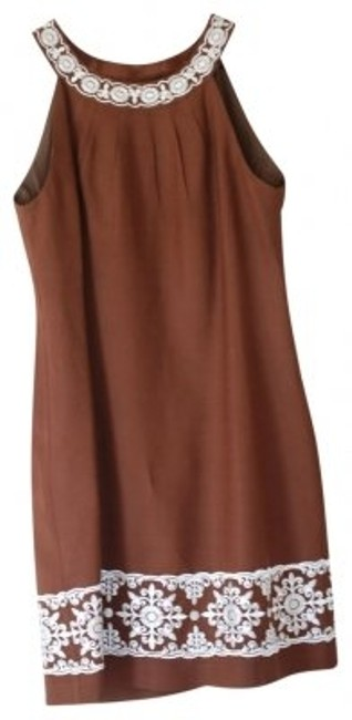 Preload https://item4.tradesy.com/images/jessica-howard-brown-linen-sleeveless-with-creme-embroidere-above-knee-short-casual-dress-size-12-l-32638-0-0.jpg?width=400&height=650