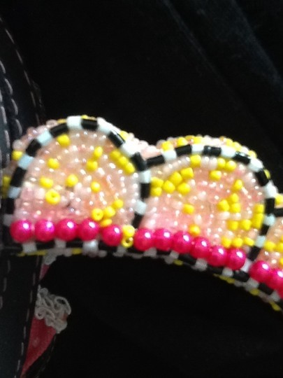 Mary Frances Pink/yellow Clutch