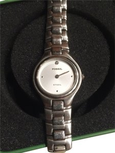 Fossil Silver and Diamond Watch FS2727