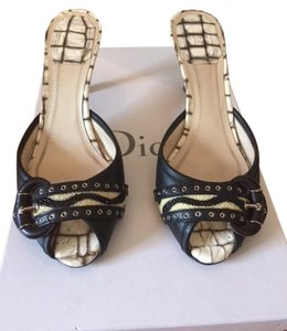 Dior Leather Black and cream Mules