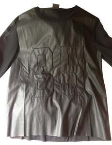 Urban Outfitters Top Black vegan leather