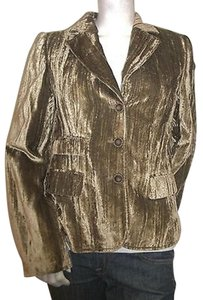 Other Luisa Cerano Gold Shimmer Crushed Velvet Blazer 448376199