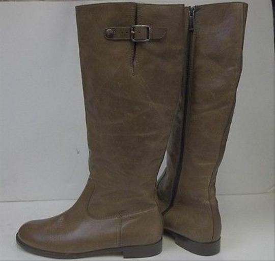 Paul Green Distressed Leather Zip Entry Tall Riding 35310 Tan Boots