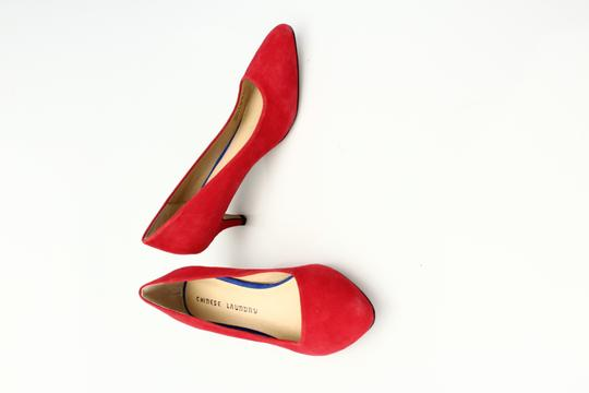 Chinese Laundry Red Suede Kitten Heels Lollipop Red Pumps