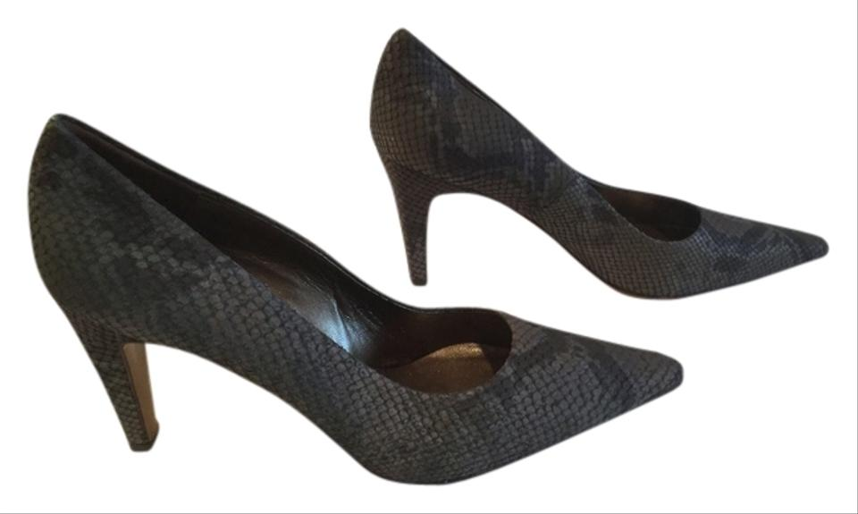 5ff90c261a8 Peter Kaiser Upper Made Germany Size Gray reptile all leather G.B. 5.5 Pumps  ...