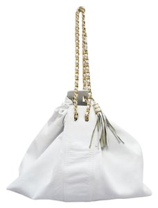 Bottega Veneta Leather Drawstring Gold Chain Handbag Hobo Bag