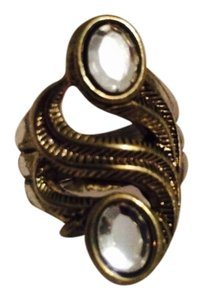 Other Dual Stone Swirl Ring