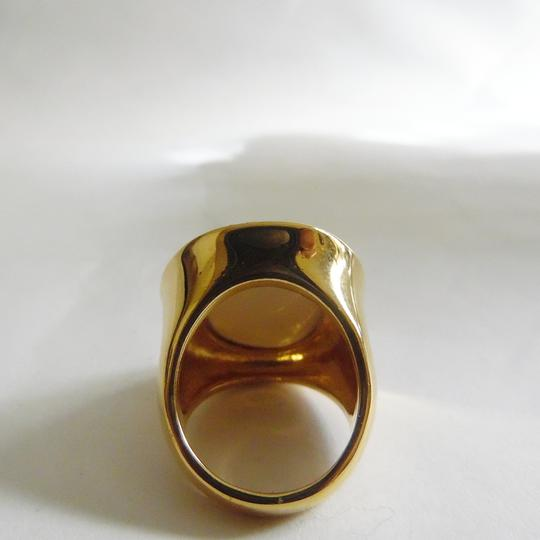 Joan Rivers Joan Rivers White Lucite Ring Size 8