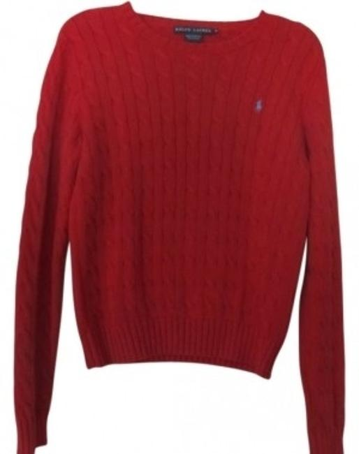 Preload https://item3.tradesy.com/images/polo-ralph-lauren-red-classic-cable-long-sleeve-sweaterpullover-size-8-m-32677-0-0.jpg?width=400&height=650