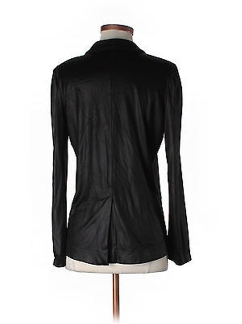 Marc Jacobs Marc Jacobs Black Satin Stretch Blazer Jacket Chic