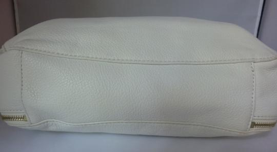 Michael Kors Leather Tote in Optic White