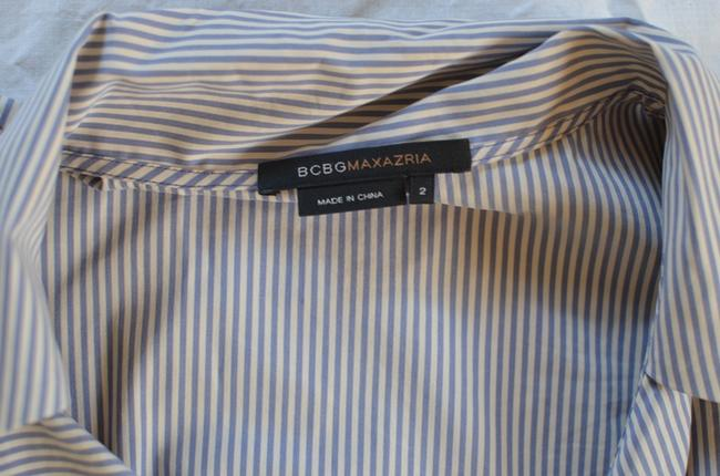BCBGMAXAZRIA Work Short-sleeve Striped Stripes Dress