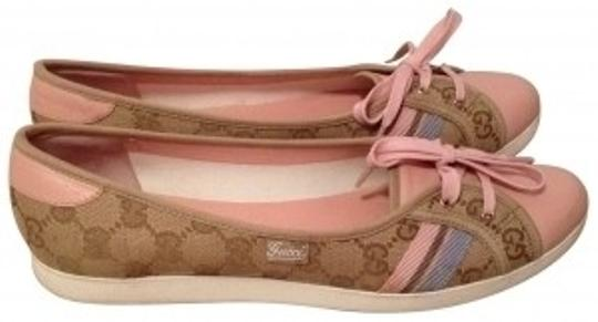 Preload https://item1.tradesy.com/images/gucci-tan-w-light-pink-leather-sneaker-like-lace-up-flats-size-us-85-32685-0-0.jpg?width=440&height=440