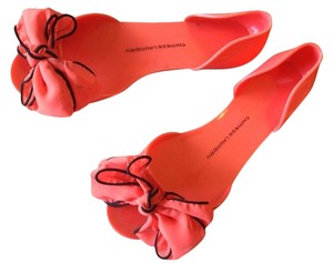 Chinese Laundry Gel Jellies Peep Toe Open Toe Coral Flats